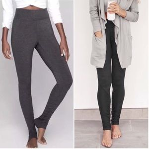 ATHLETA Restore Slim Ruched Leggings Gray M/L